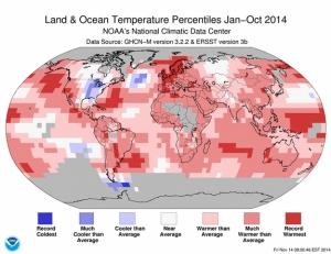 Land Ocean heating map