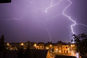 lightning stroms